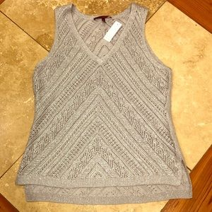 NWT metallic White House Black Market sweater